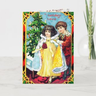 Our First Christmas Vintage Couple Holiday Card