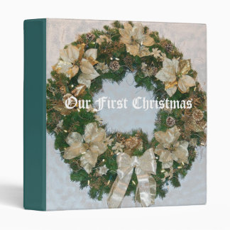 Our First Christmas Vinyl Binder