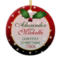 Our First Christmas Wedding Ornament