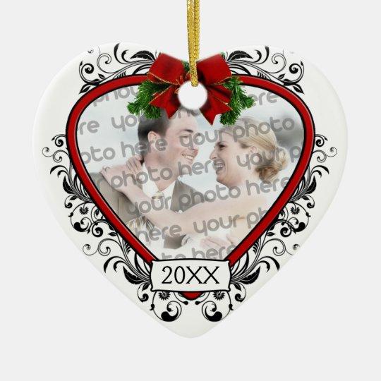 Our First Christmas Wedding Photo Ornament | Zazzle.com