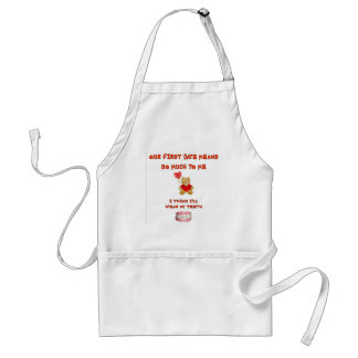 OUR FIRST DATE MEANS SO MUCH APRONS
