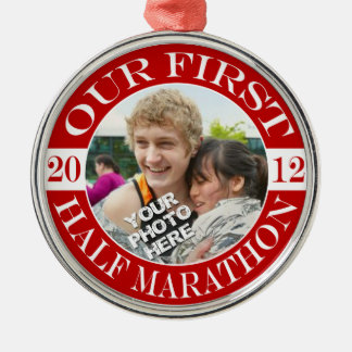 Our First Half Marathon - 2012 Metal Ornament