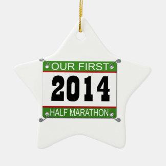 Our First Half Marathon Ornament - 2014