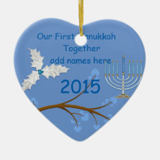 Our First Hanukkah Together Ornament Gift at Zazzle