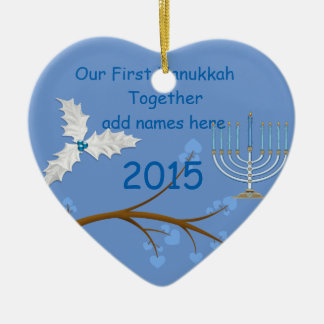 Our First Hanukkah Together Ornament Gift