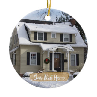 Our First Home Christmas Ornament