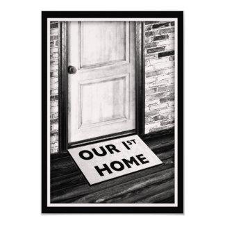 our first home door mat photograph card