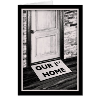 our first home door mat photograph stationery note card