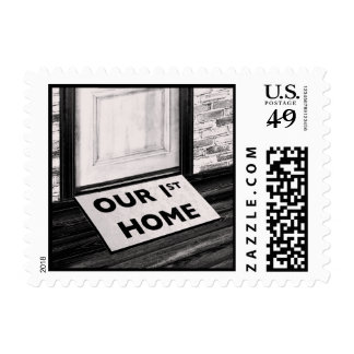 our first home door mat photograph postage