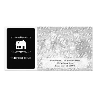 our first home (mod black and white) card