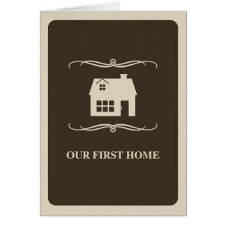 our first home (mod home) stationery note card