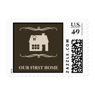 our first home (mod home) postage