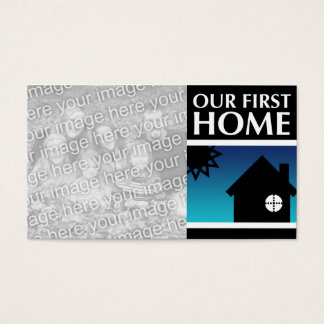 our first home (mod sunrise) business card
