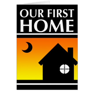 our first home (mod sunrise) stationery note card