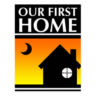 our first home (mod sunrise) postcard