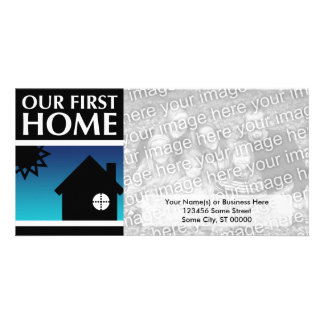 our first home (mod sunset) card