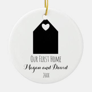 Our first home ornament | minimalist and modern