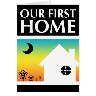 our first home (rainbow sunset) stationery note card