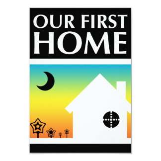 our first home (rainbow sunset) card