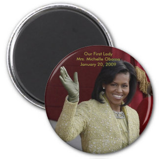 Our First Lady, Michelle Obama 2 Inch Round Magnet