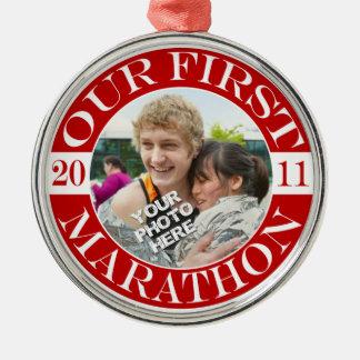 Our First Marathon - 2011 Metal Ornament