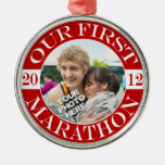 Our First Marathon - 2012 Metal Ornament