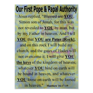 Our First Pope & Papal Authority poster