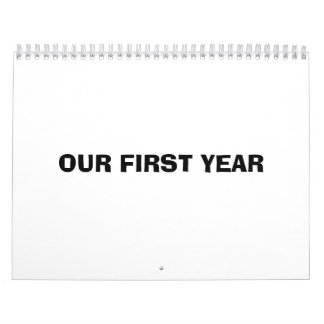 Our First Year Calendar