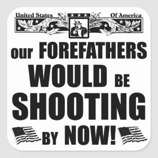 Our Forefathers Would Be Shooting By Now! Square Sticker
