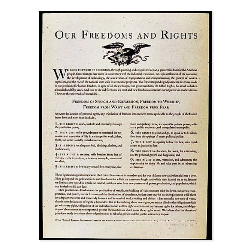 Our Freedoms And Rights Postcard