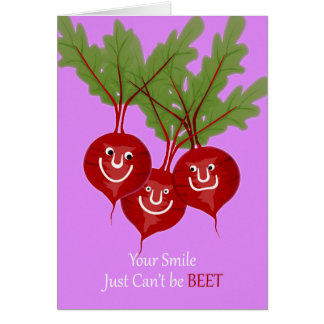 Our Friendship Can't be Beet, Cute Smiling Beets Card