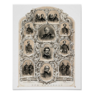 Our Generals -- Union Civil War Poster