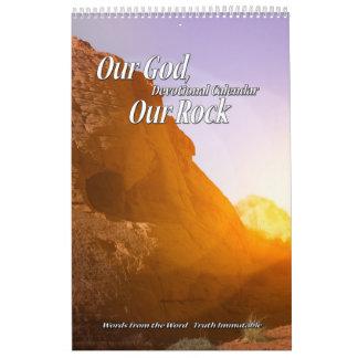 Our God Our Rock Devotional Calendar Single Page