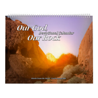 Our God Our Rock Devotional Calendar two page