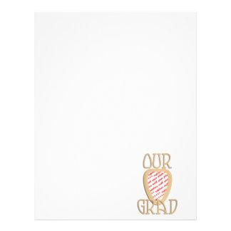 OUR GRAD - Gold Graduation Photo Frame Letterhead
