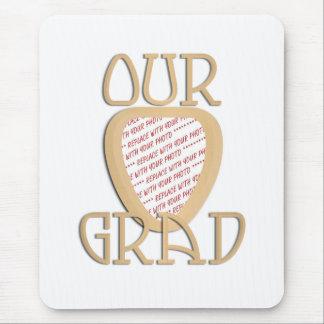 OUR GRAD - Gold Graduation Photo Frame Mouse Pad