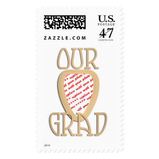 OUR GRAD - Gold Graduation Photo Frame Stamp