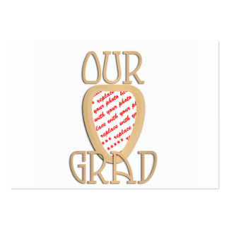 Our Grad Gold Photo Frame Large Business Cards (Pack Of 100)
