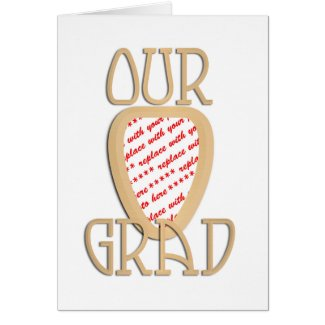 Our Grad Gold Photo Frame Cards