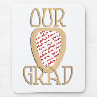 Our Grad Gold Photo Frame Mouse Pad
