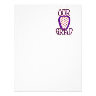 OUR GRAD Gold & Purple Photo Frame Letterhead