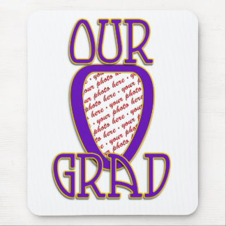 OUR GRAD Gold & Purple Photo Frame Mouse Pad