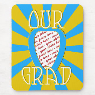 'OUR GRAD' Lt Blue & Gold Photo Frame - ZOOM! Mouse Pad