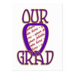 OUR GRAD Purple & Gold School Colors Frame Postcards