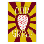 'OUR GRAD' Red & Gold Photo Frame - ZOOM! Greeting Card
