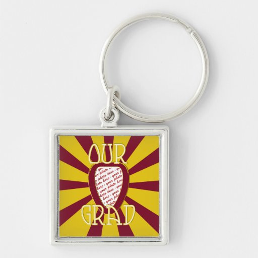 'OUR GRAD' Red & Gold Photo Frame - ZOOM! Key Chains