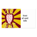 OUR GRAD Red School Colors 'ZOOM' Frame Business Card Template