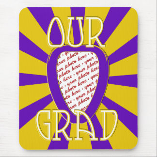 OUR GRAD School Colors Purple&Gold    'ZOOM' Frame Mouse Pad