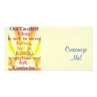 Our Greatest Glory - Confucius Quote Photo Greeting Card