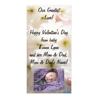 Our Greatest Love! Baby Family PhotoCard Valentine Photo Greeting Card